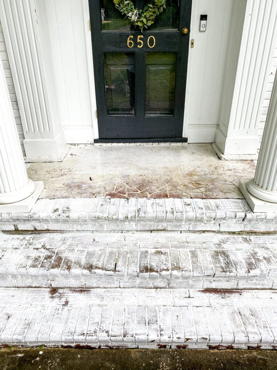 porch floor before