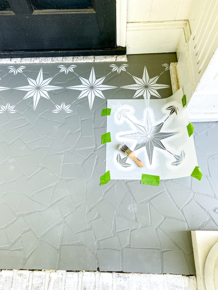 How to stencil a porch floor