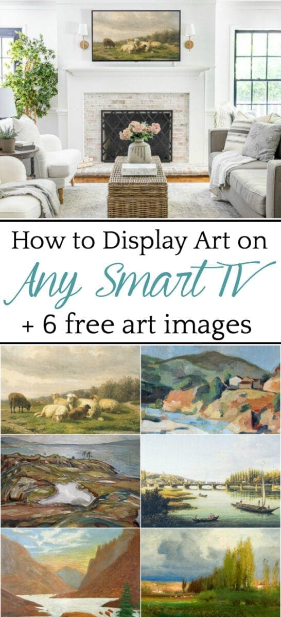 How to Display Art on Any Smart TV + 6 Free Art Images