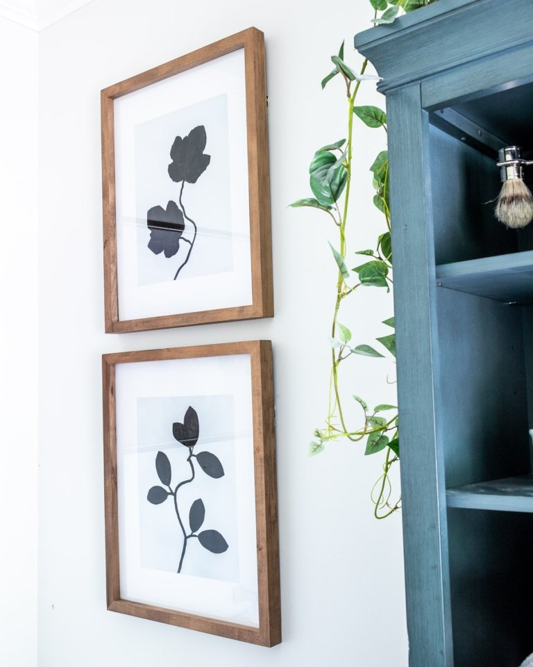 DIY Silhouette Leaf Art Using Leaves and Paint