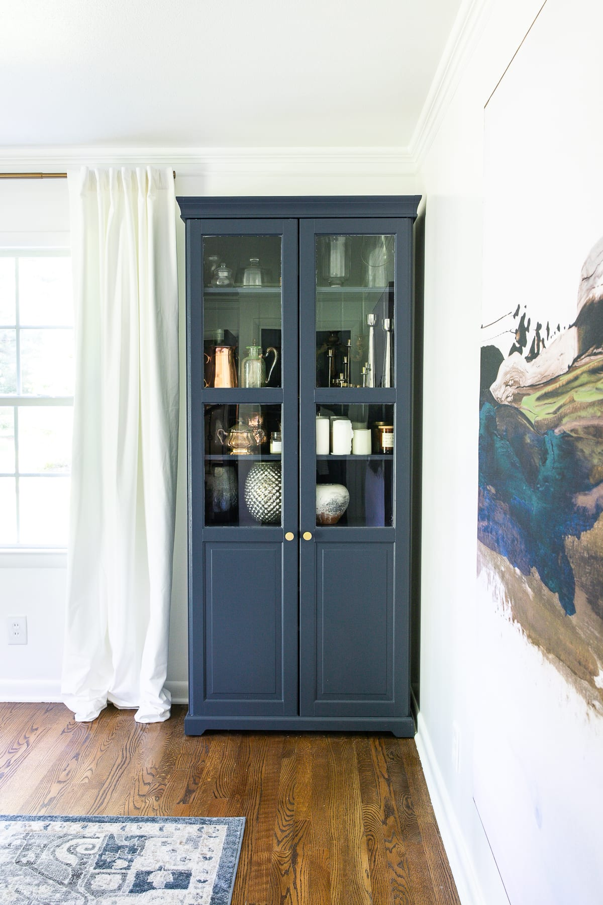 Hale Navy IKEA Liatorp Cabinet Makeover for a Home Office