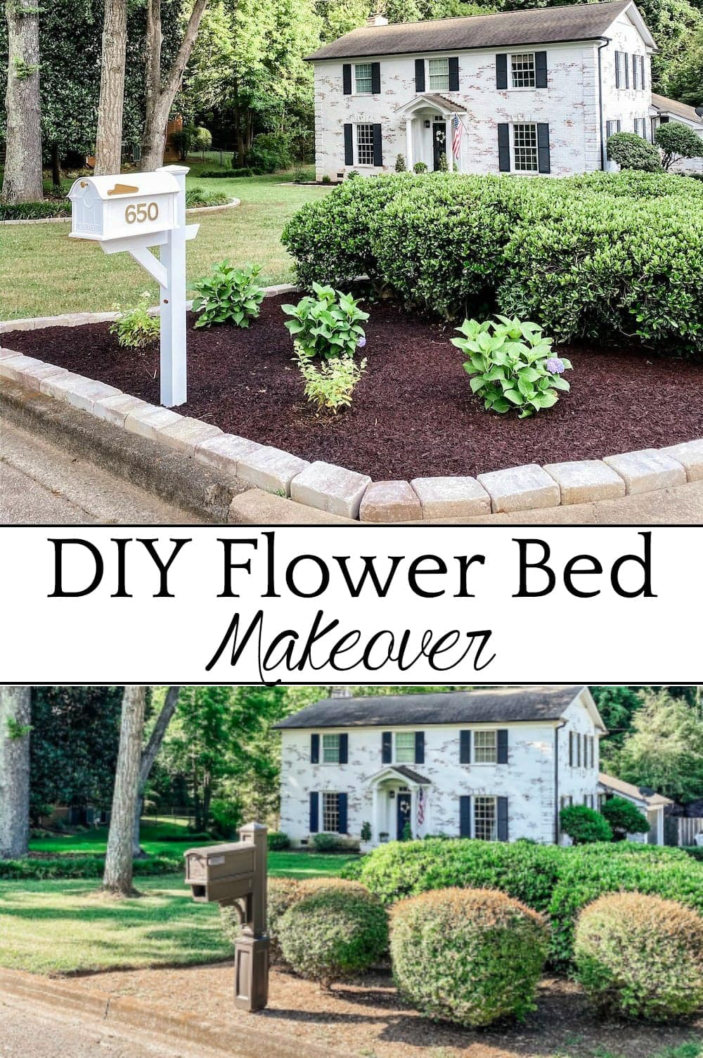 DIY Flower Bed Makeover | A step-by-step DIY tutorial with STIHL to take your flower beds from drab to fab to increase curb appeal, plus all the best tools to get the job done. #ad