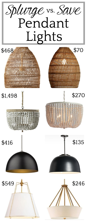 Our Office Lights + Splurge vs. Save Lighting Options