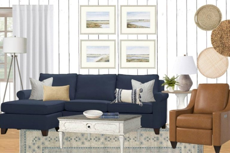 Coastal Living Room Mood Board & Our Next BIG Project!