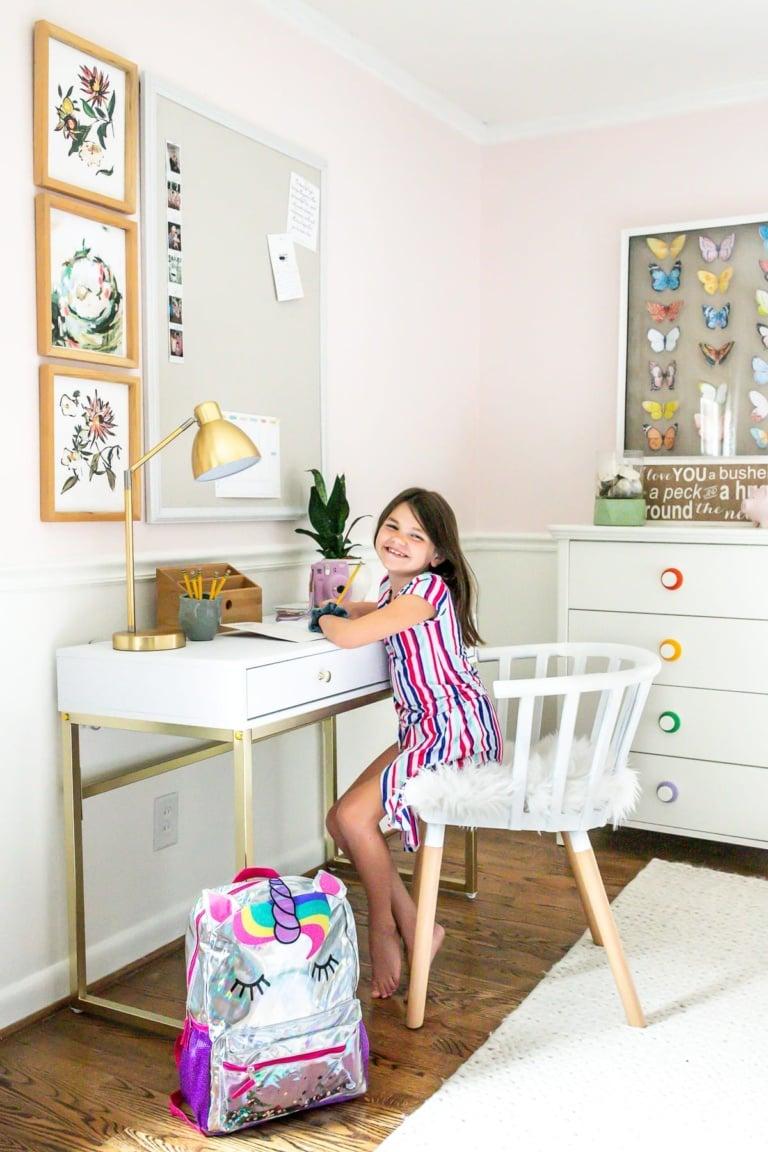 Homework Desk in Olivia's Room & Back-to-School