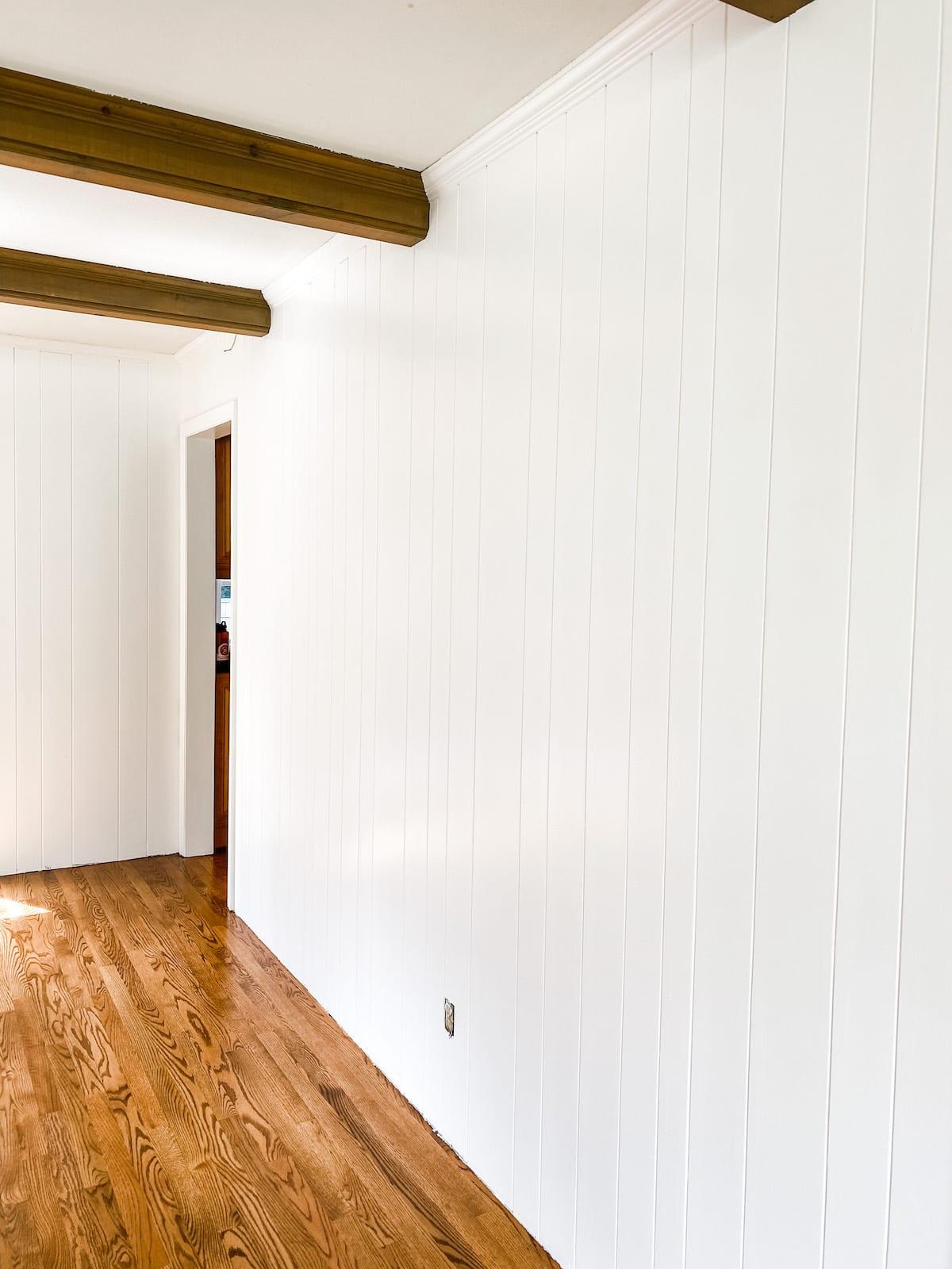 diy painted wood paneling
