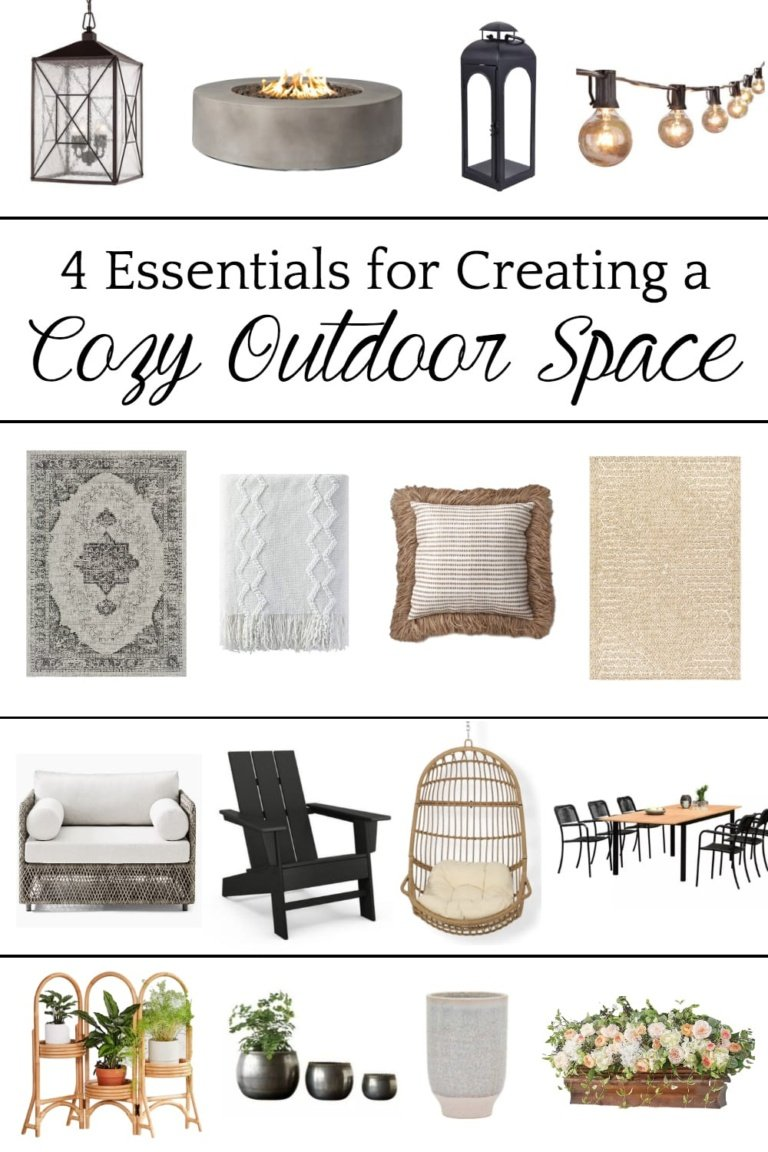 4 Essentials for Creating a Cozy Outdoor Space
