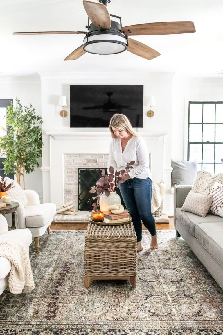 Earthy Fall Living Room & My Favorite Budget Fall Decor Capsule