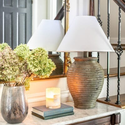 DIY Terra Cotta Table Lamp Dupe