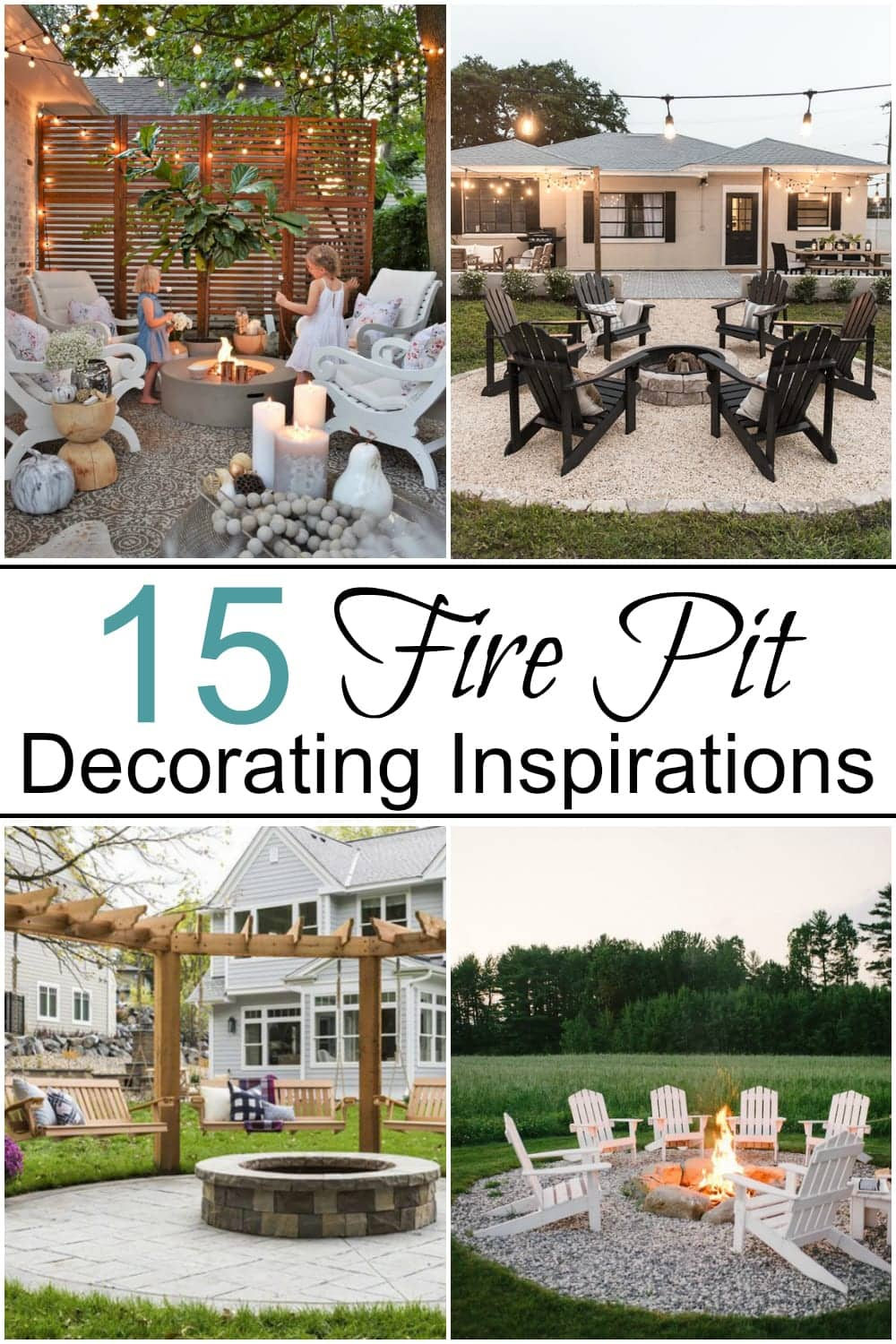 15 Fire Pit Ideas | A round-up of 15 fire pit ideas and outdoor decorating inspirations for a cozy, welcoming backyard year-round.