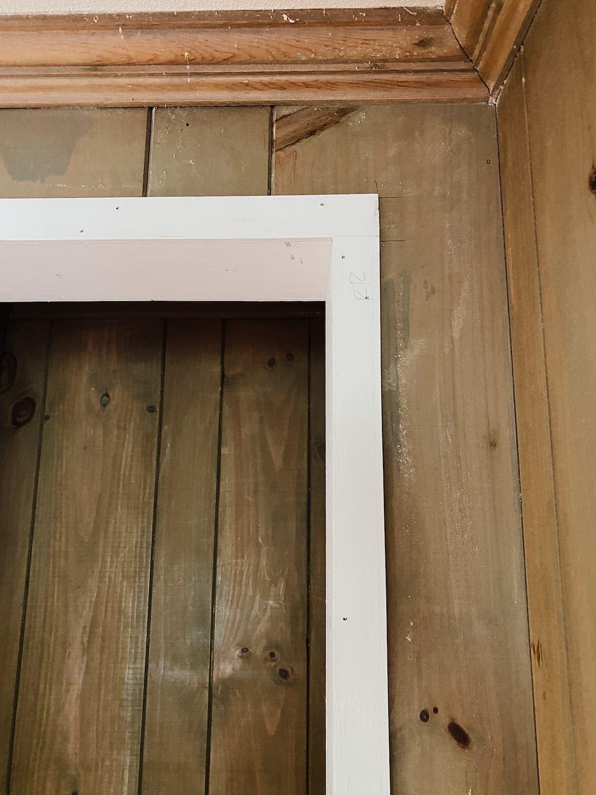closet doorway frame