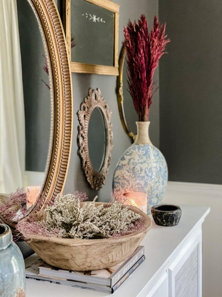 My Favorite Dried Flowers and Stems & Fall Dining Room