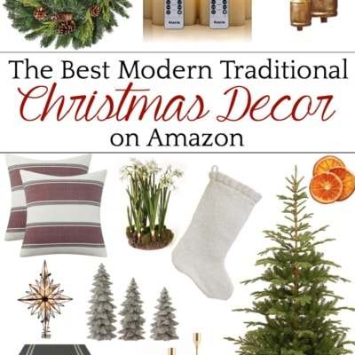 The Best Modern Traditional Christmas Decor on Amazon