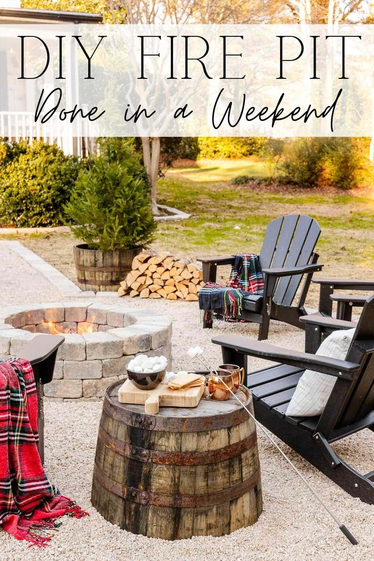 DIY Fire Pit Done in a Weekend | A step-by-step tutorial for how to build a DIY backyard fire pit + the best equipment for making the job faster and easier.