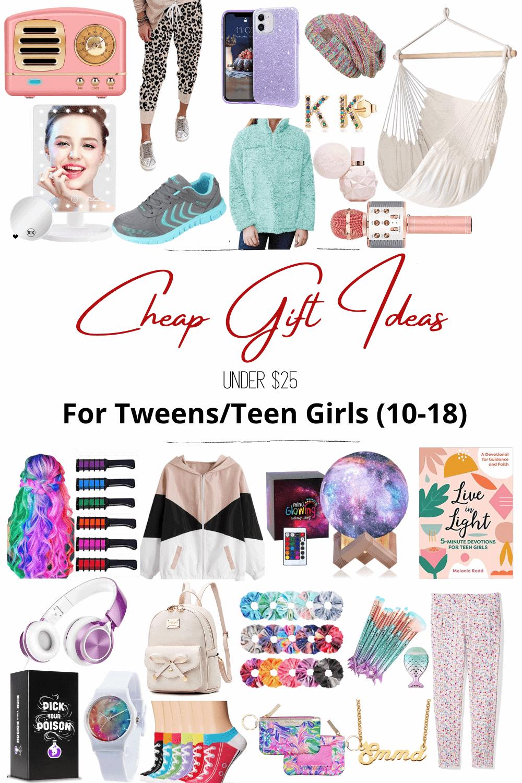cheap gift ideas for tween and teen girls under $25