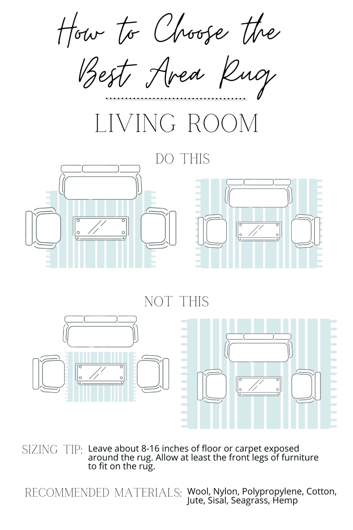 how to choose an area rug in a living room