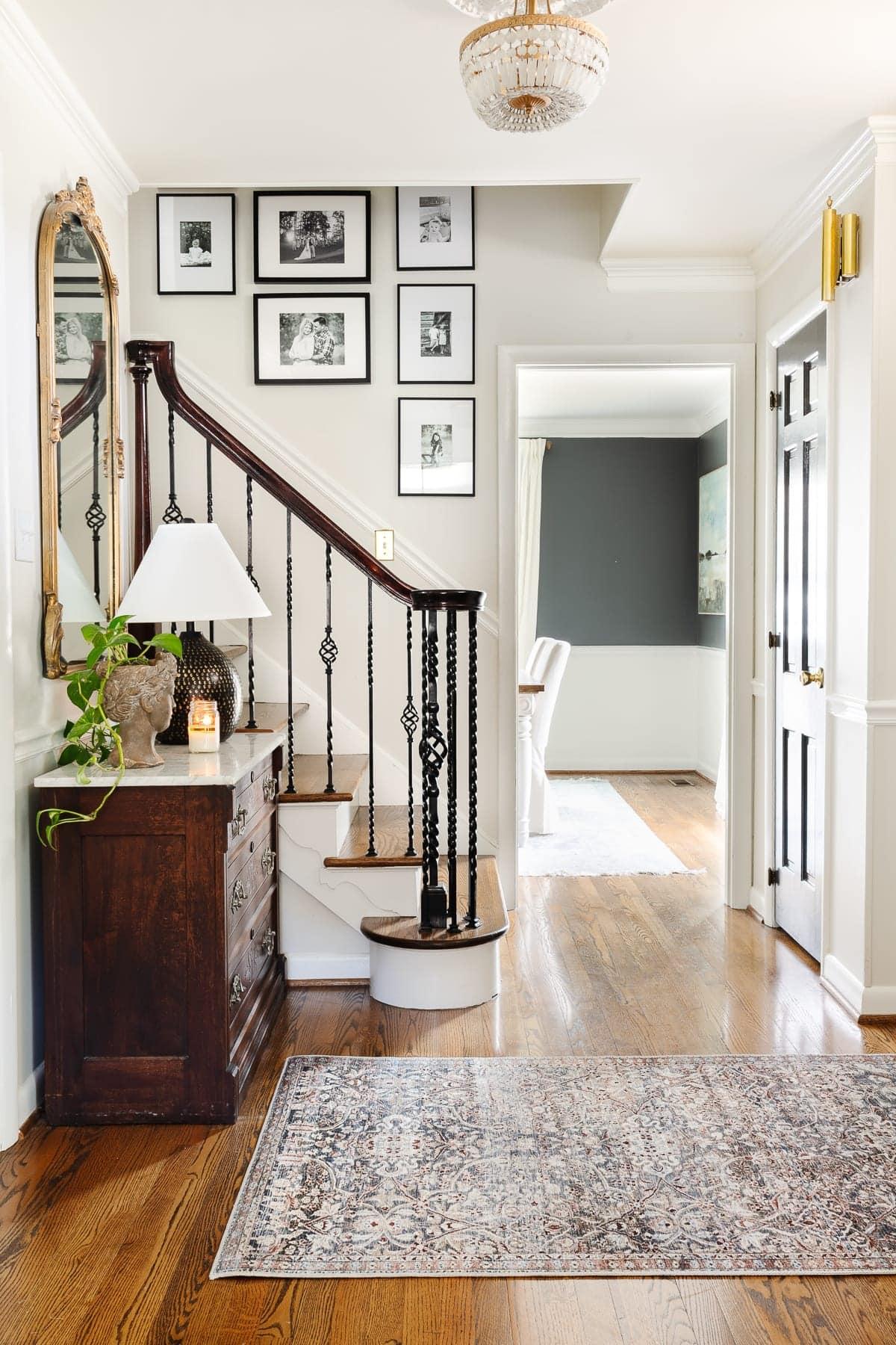 rug in foyer