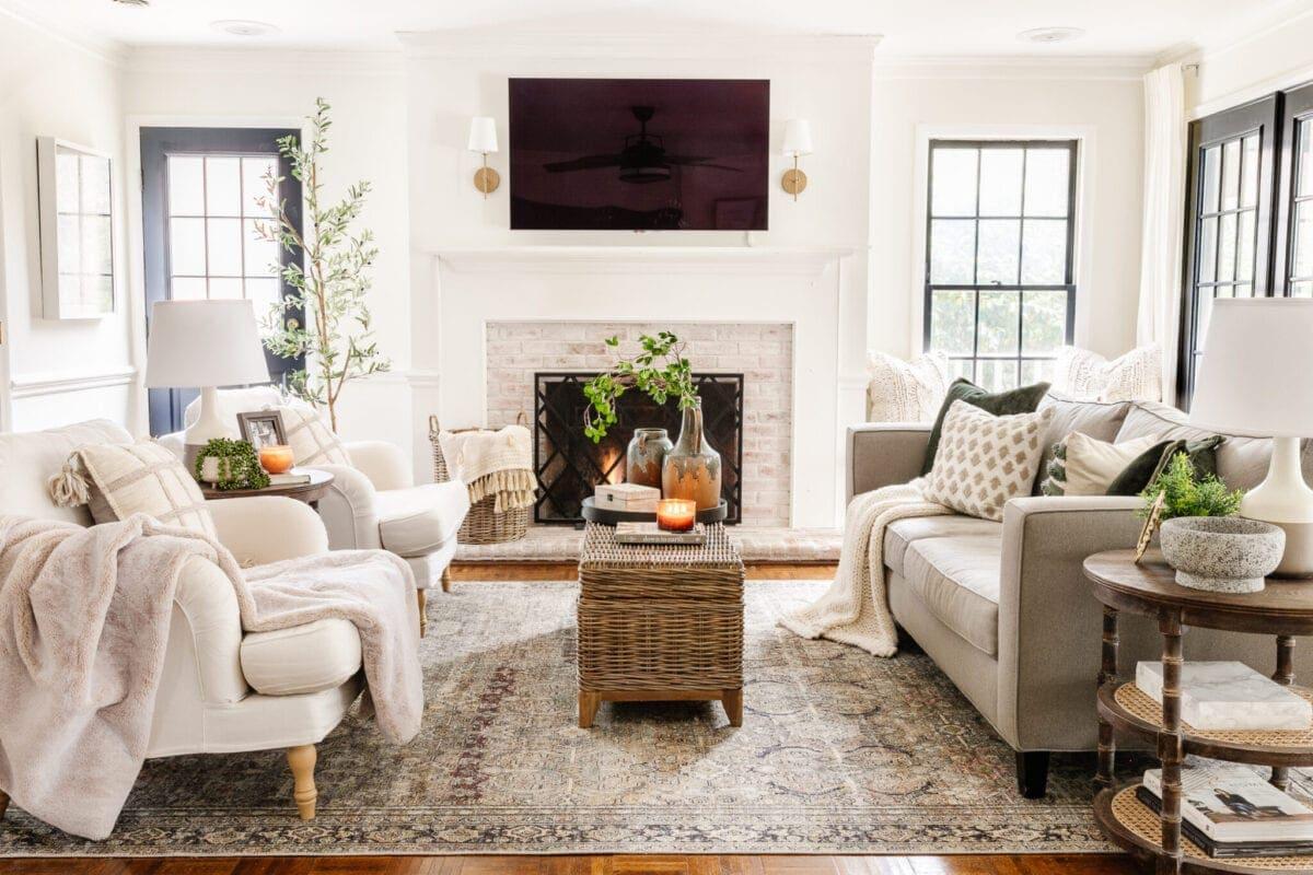 neutral winter living room