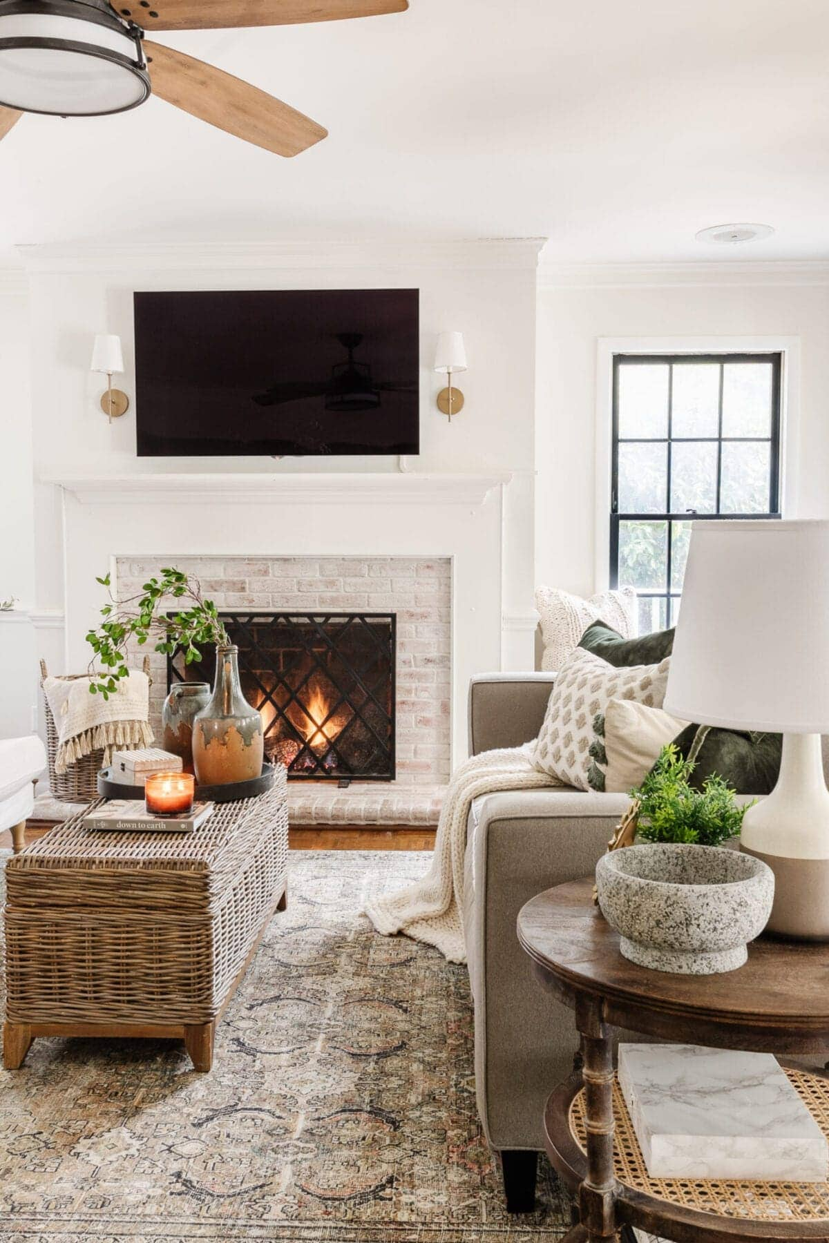 Winter Decor in a Living Room