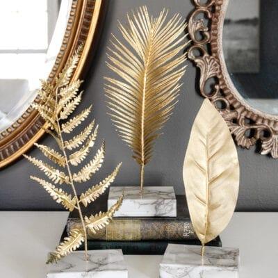 DIY Gold Leaf Sculpture Designer Dupe
