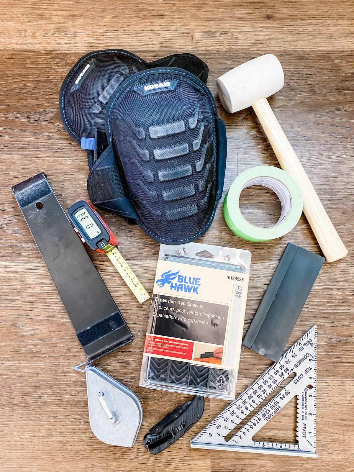 LVP flooring installation supplies