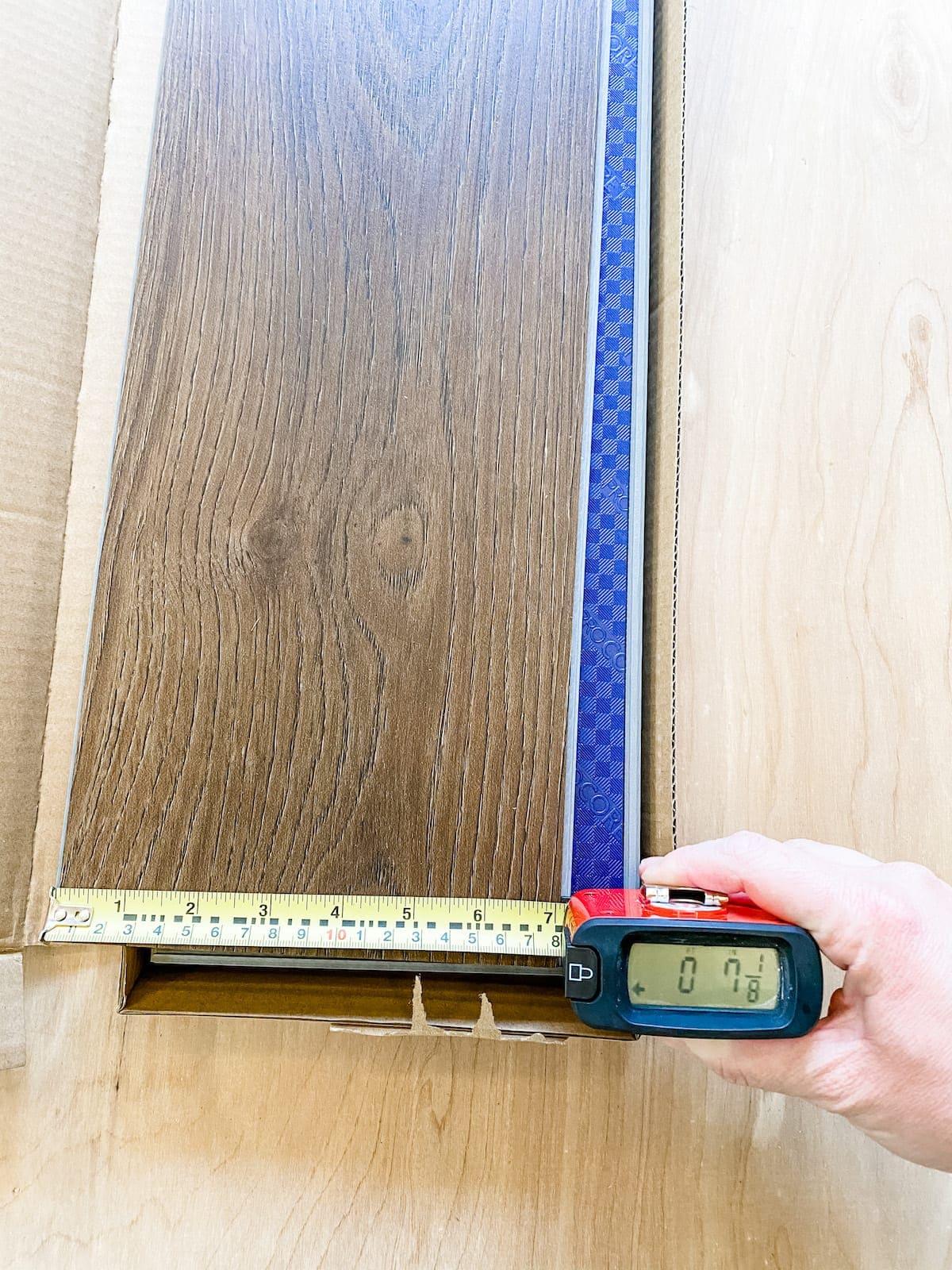measuring LVP flooring for planning a room