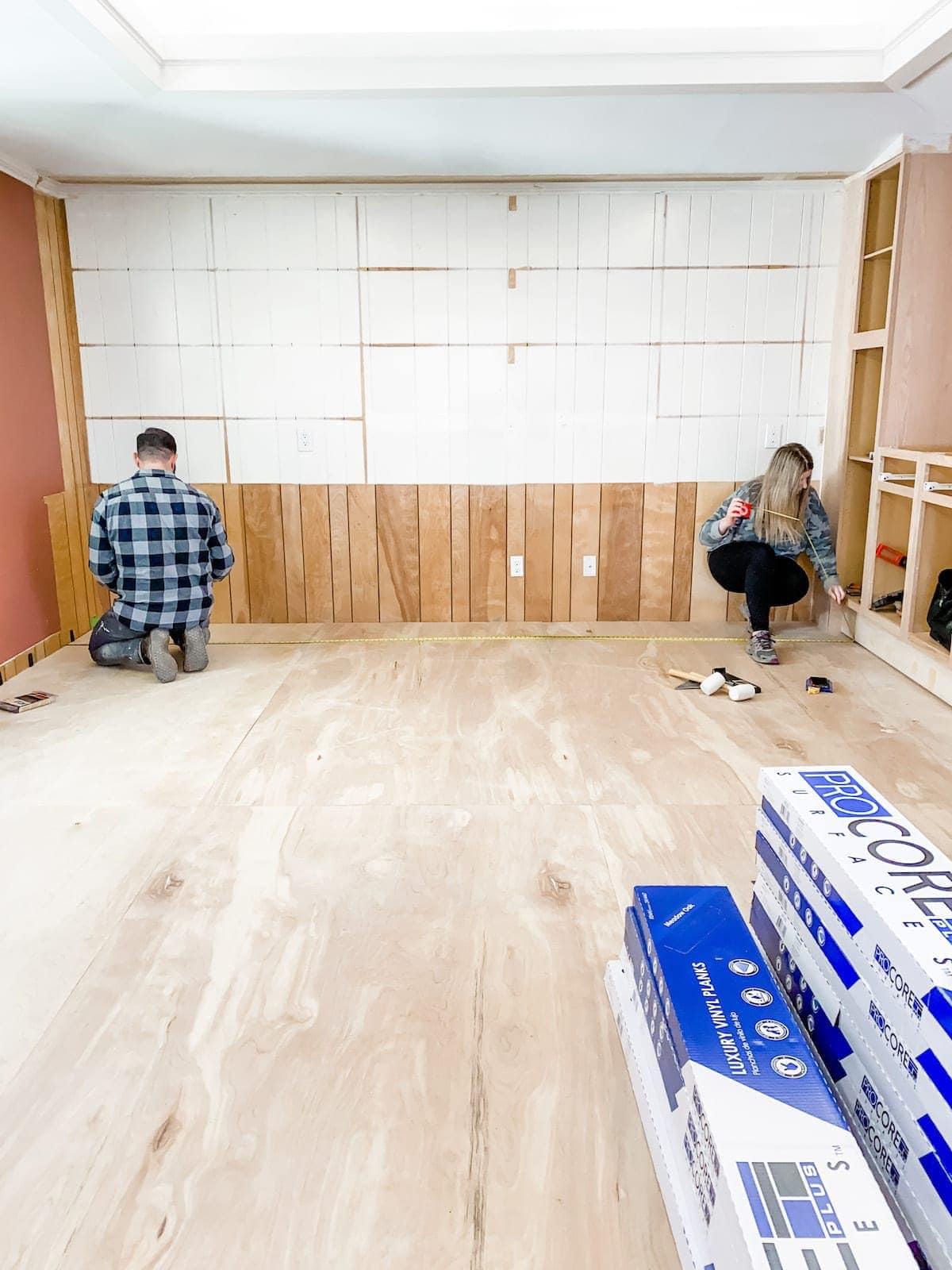measuring a room for LVP flooring
