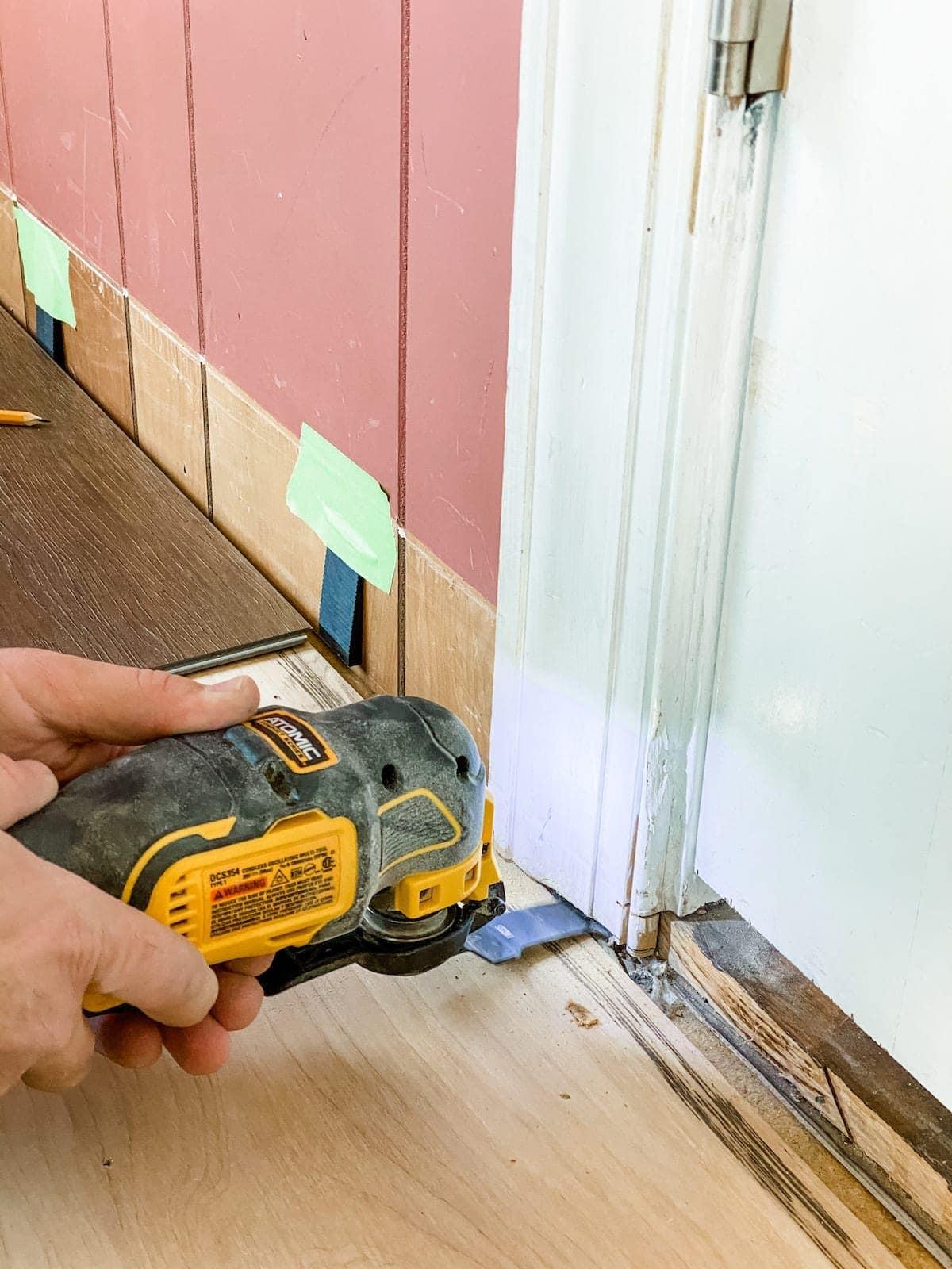undercutting door jambs for luxury vinyl plank flooring