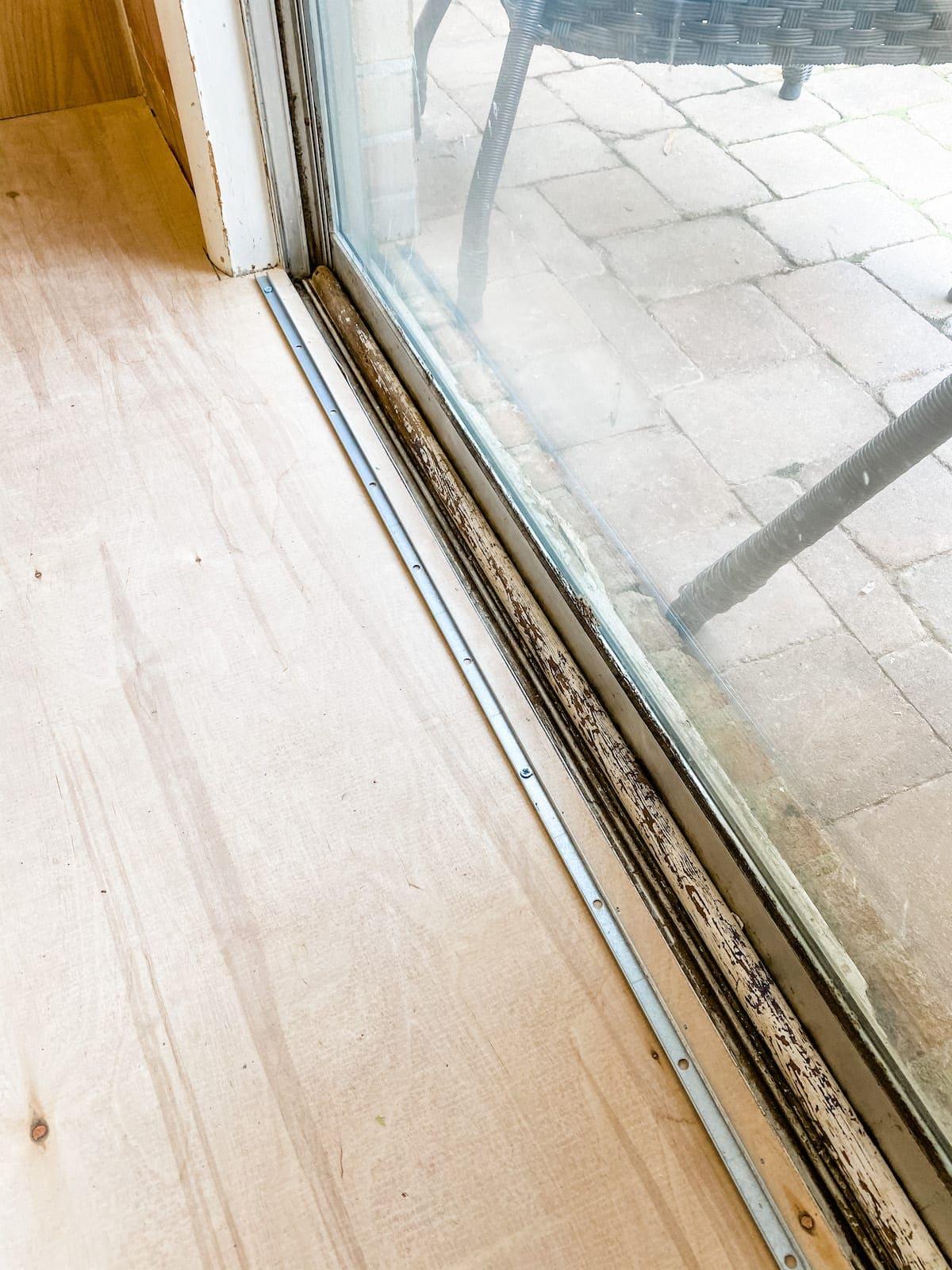 installing a threshold for luxury vinyl plank flooring