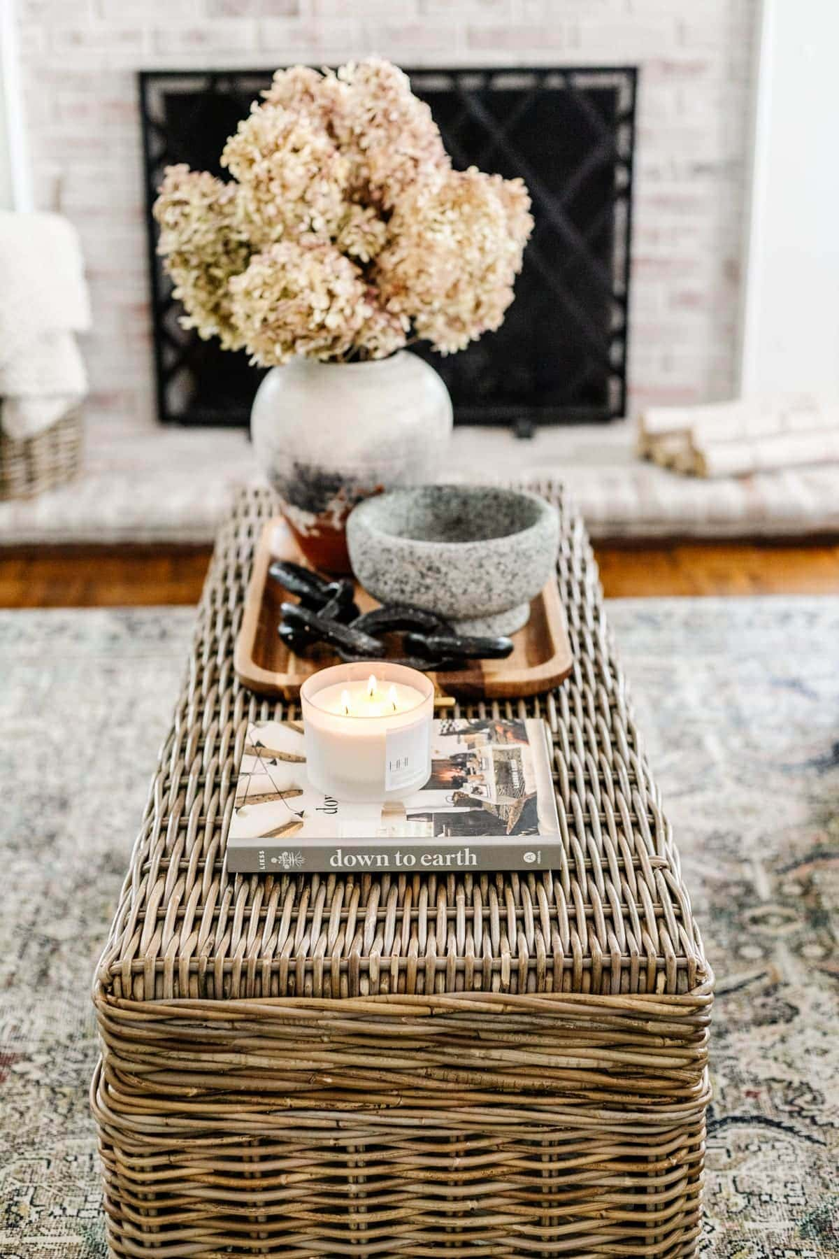 coffee table book styled on coffee table
