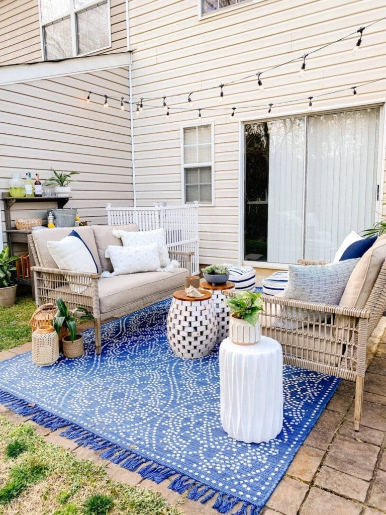 Renter-Friendly Townhouse Patio Makeover