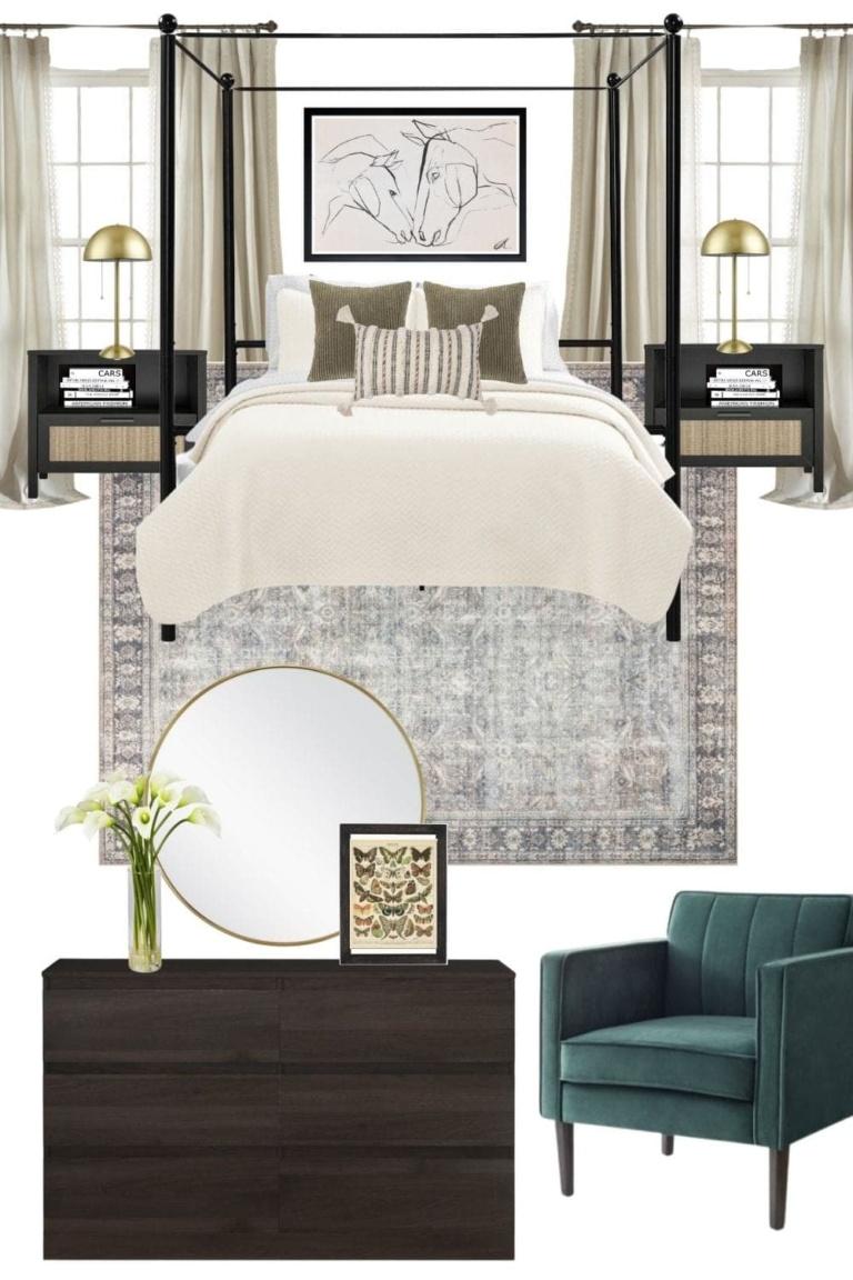 Mood Board Monday: 4 Bedroom Design Ideas Under $2,000