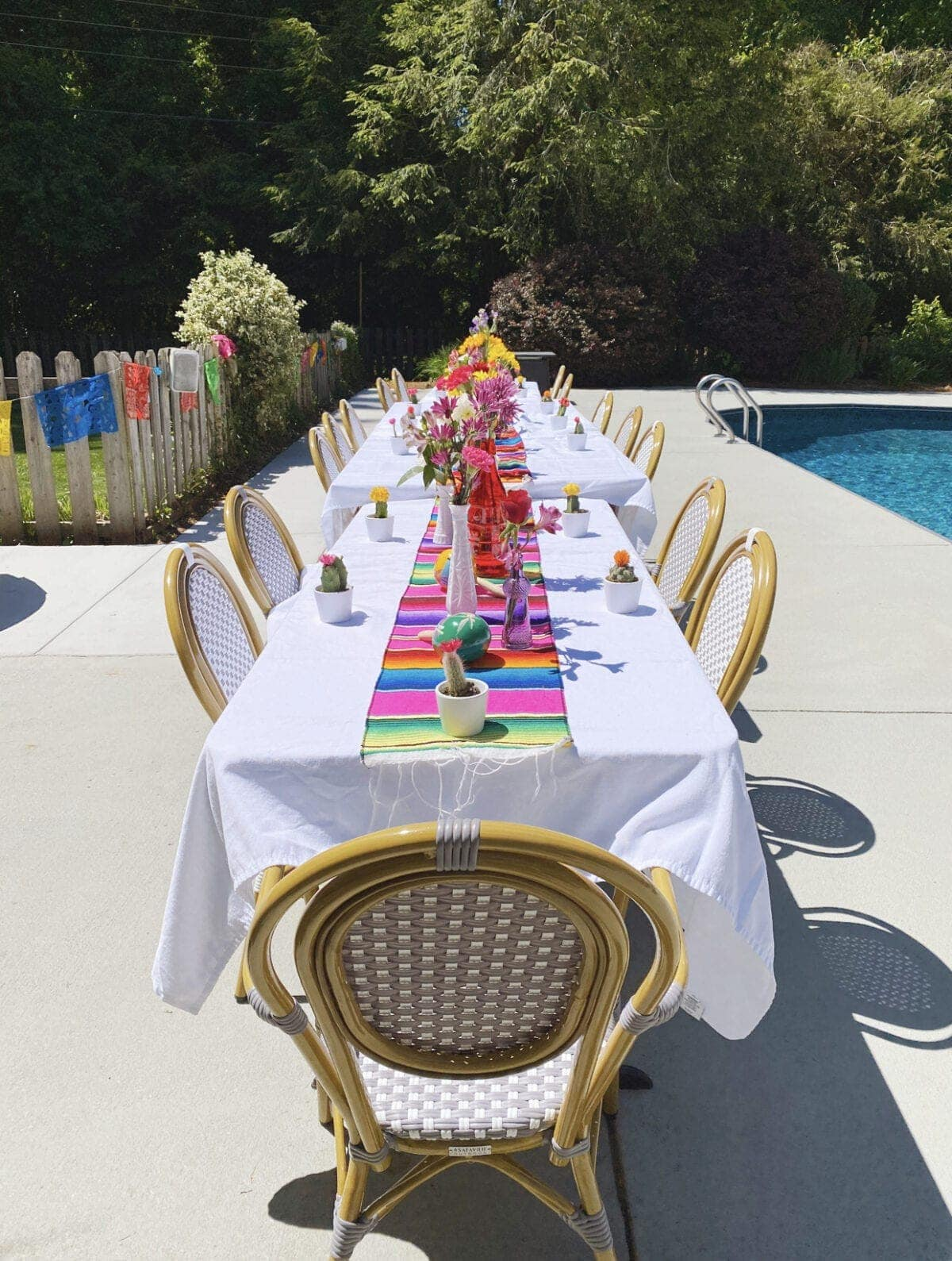 Mexican themed table decor