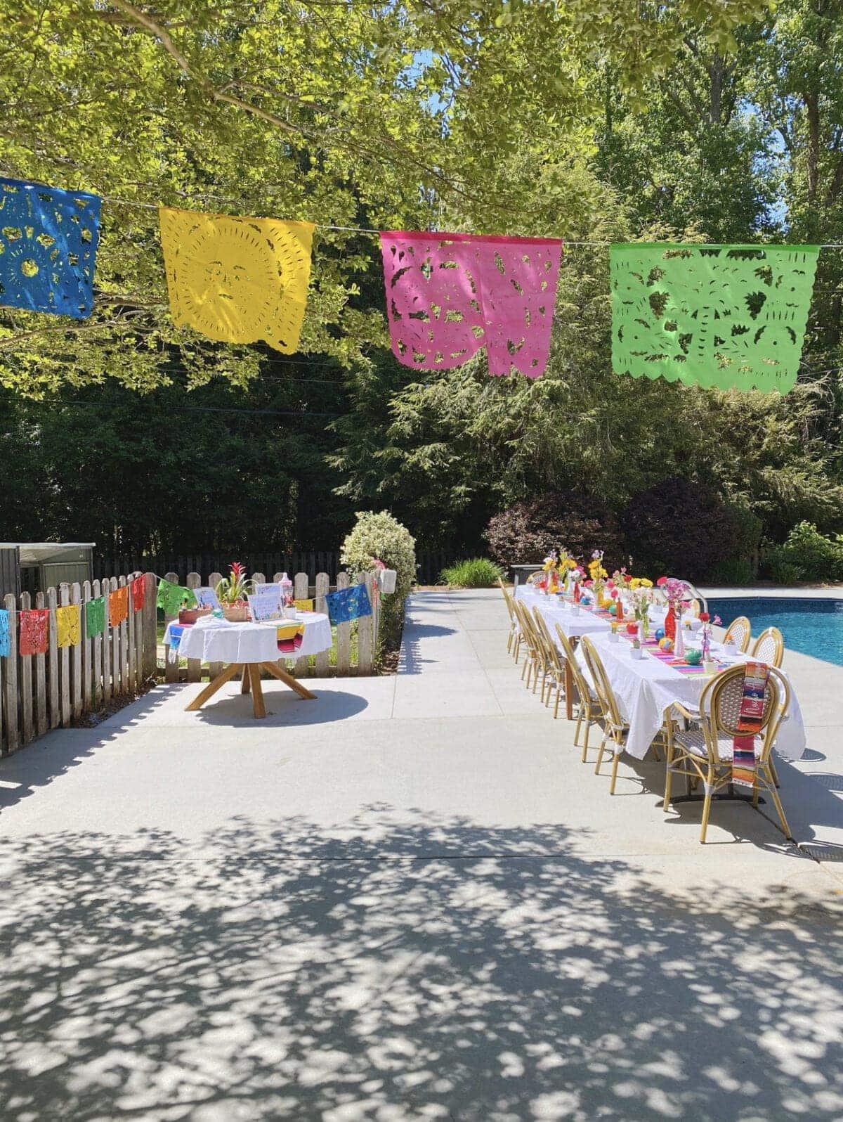 fiesta baby shower decorations