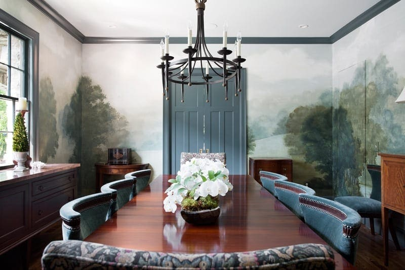 Charlotte Terrell mural in a dining room
