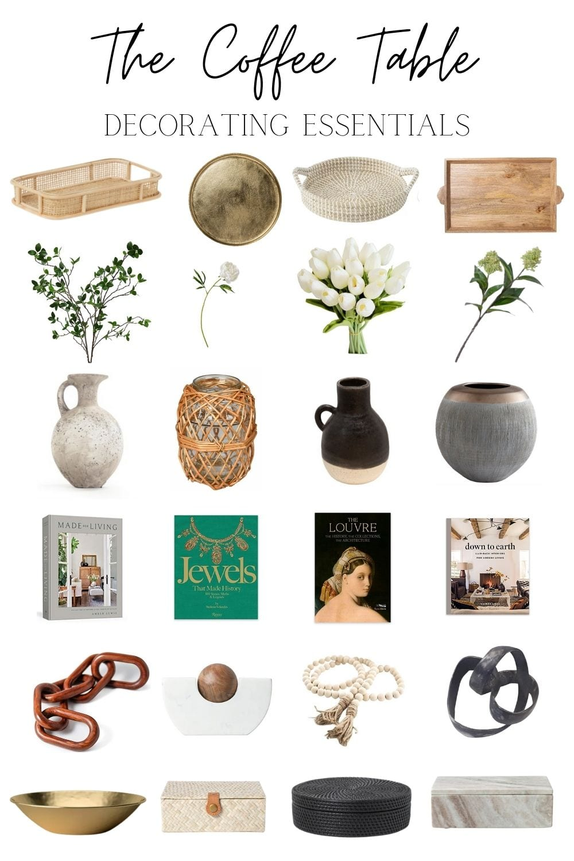 coffee table decor essentials