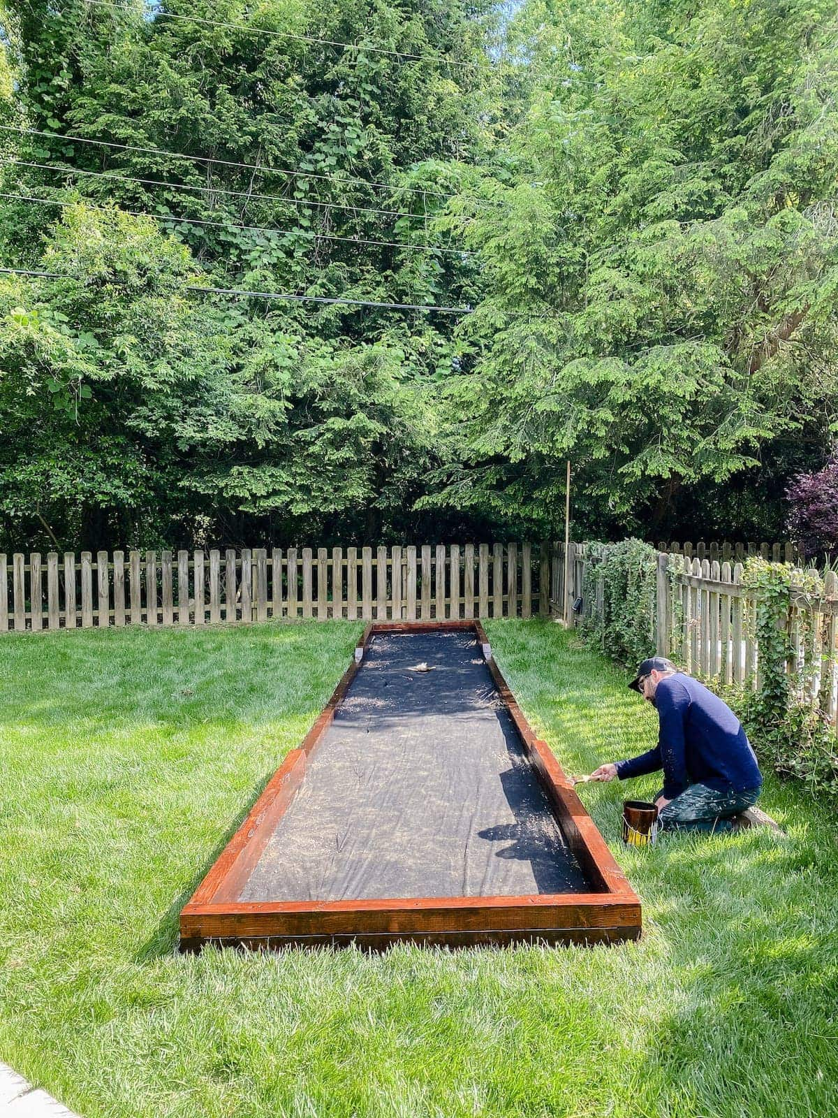 building a bocce ball court frame
