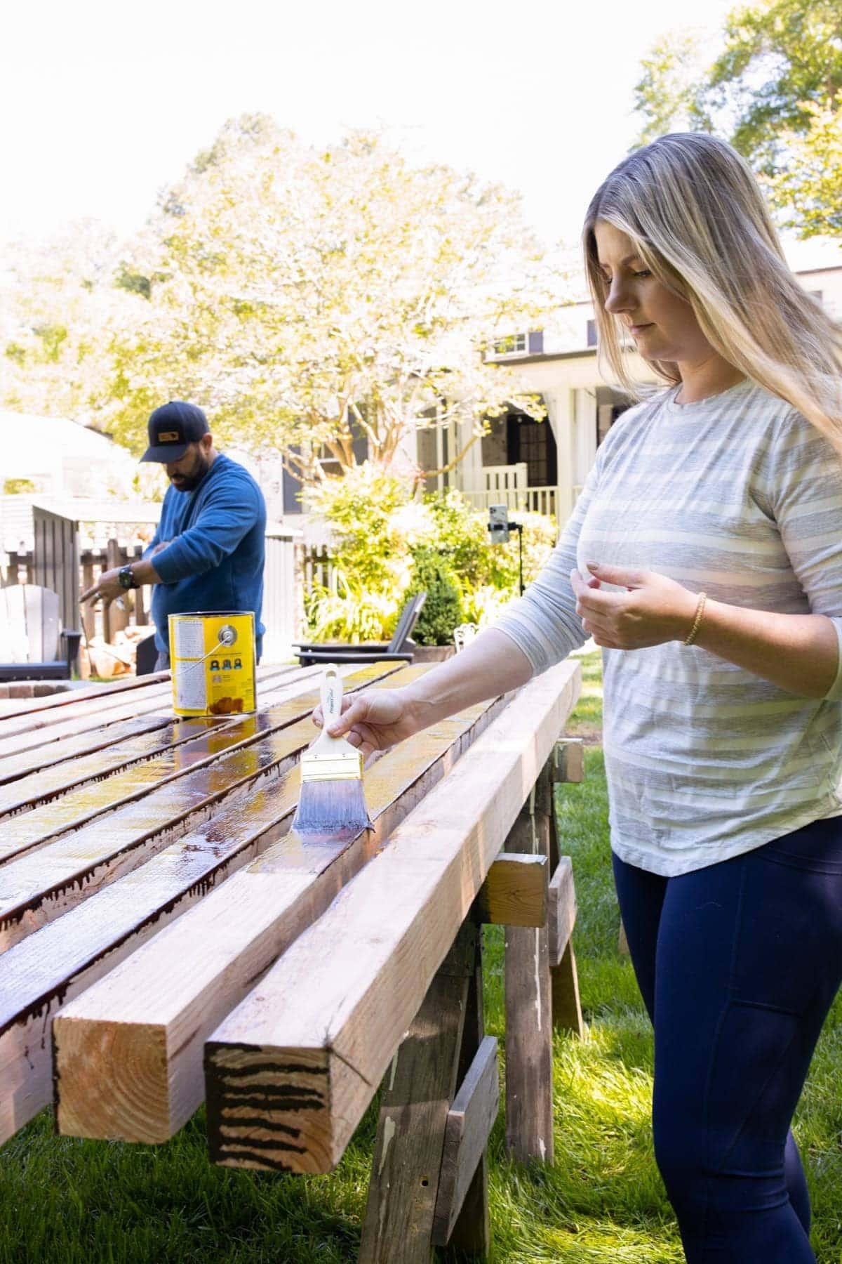 waterproof staining 4x4 cedar wood