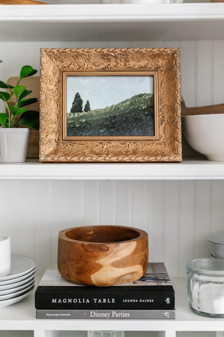 DIY Easy Art for Beginners from a Thrifted Frame