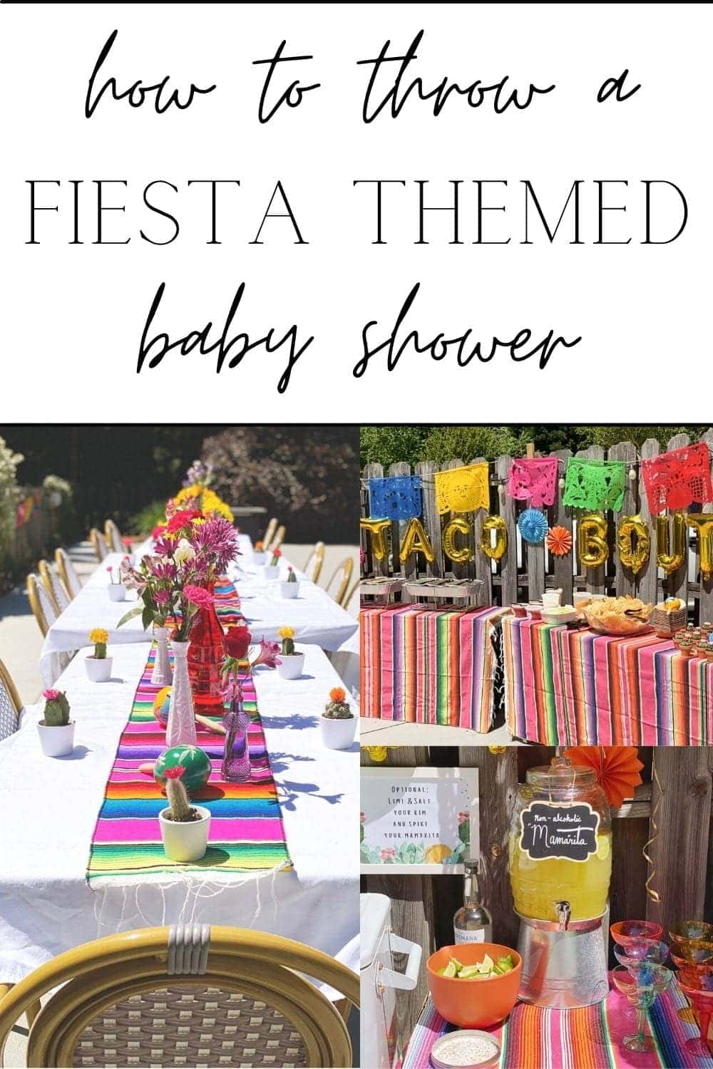 Mexican baby shower