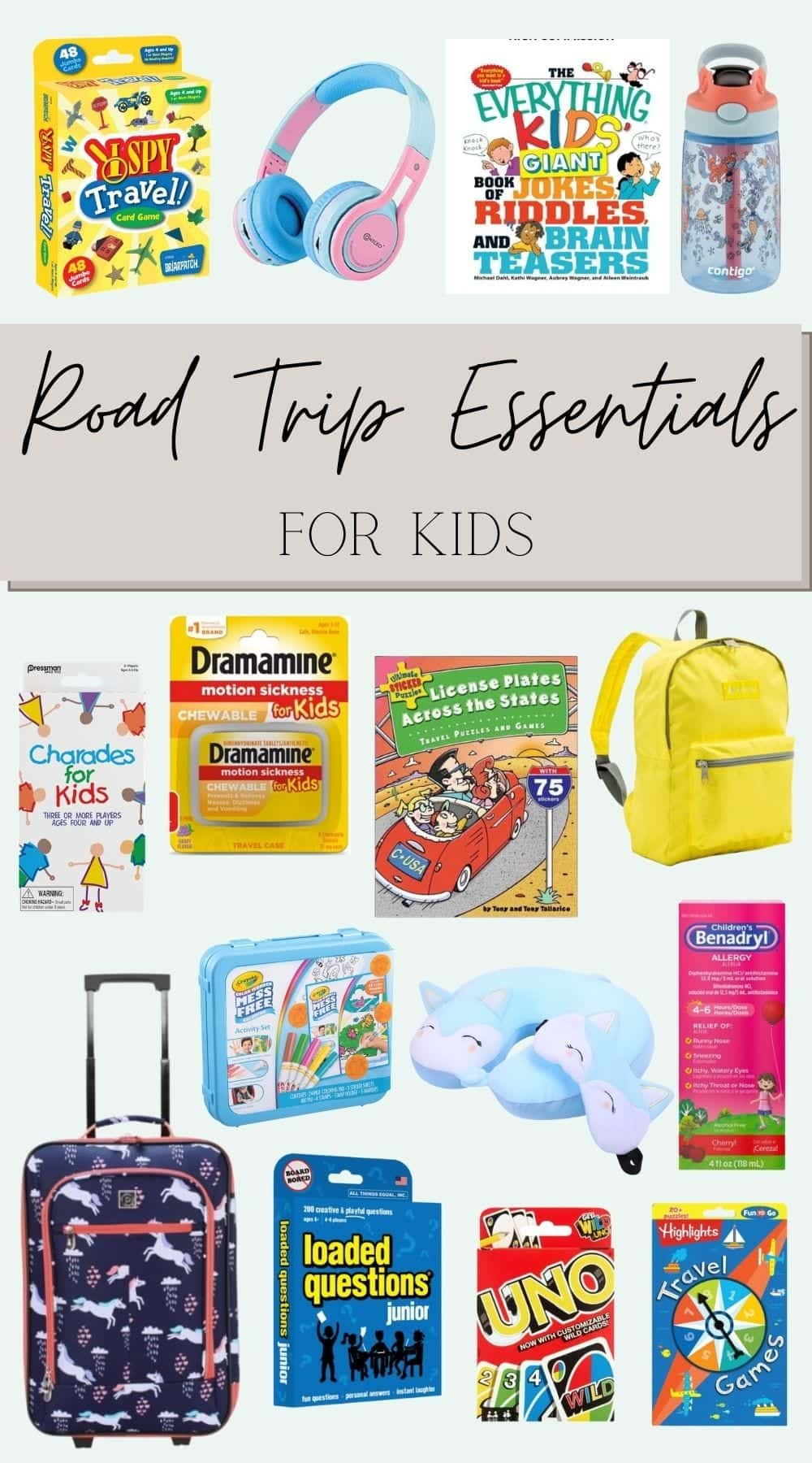 road trip essentials for kids