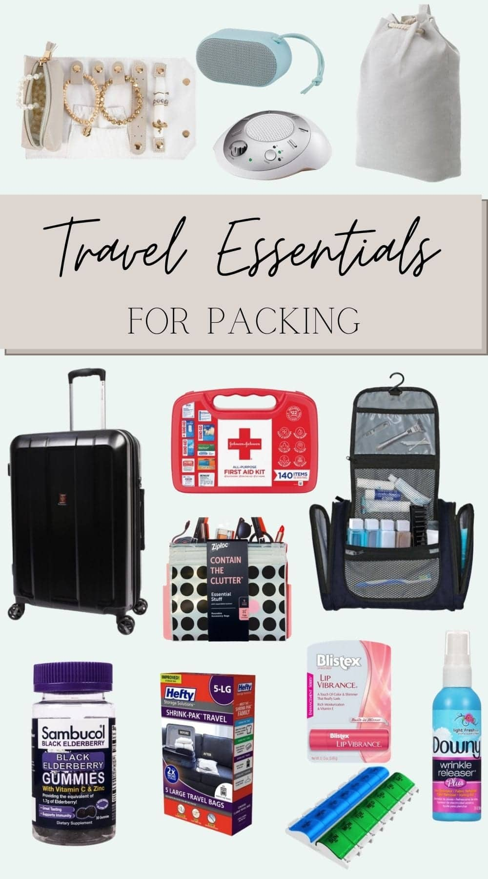 travel essentials for packing
