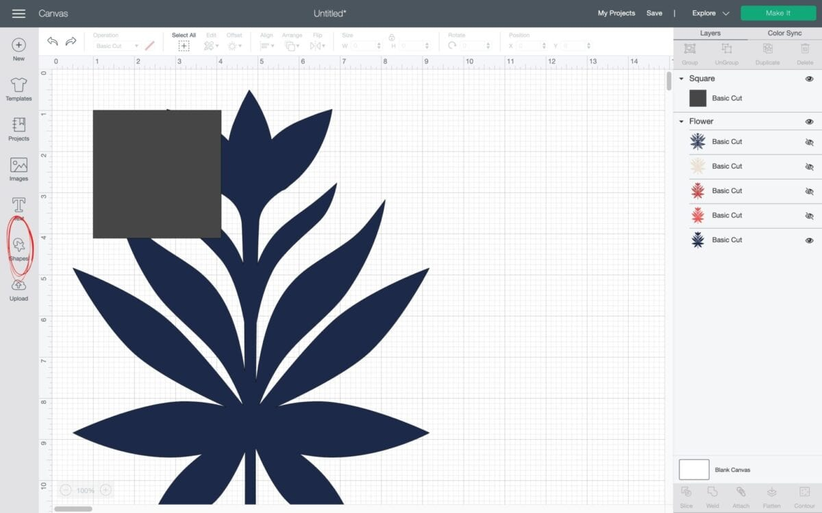 how to make a reusable stencil with Cricut