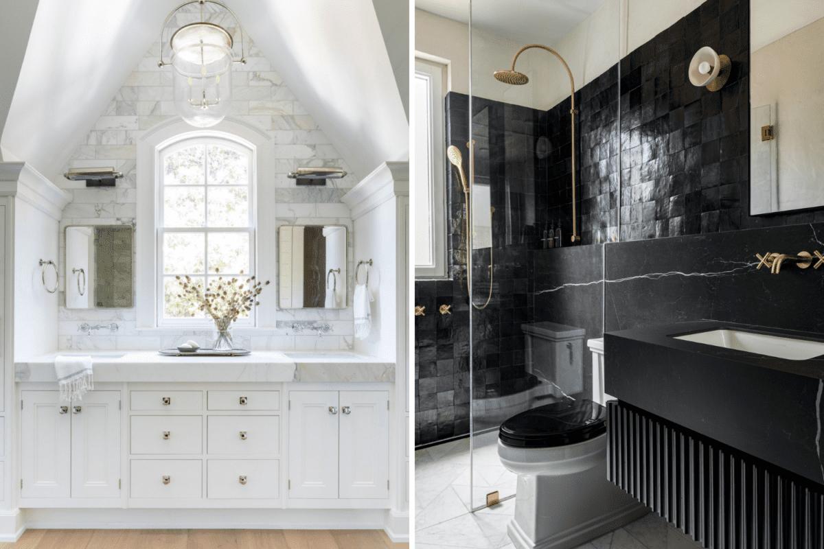 airy bathroom vs moody bathroom