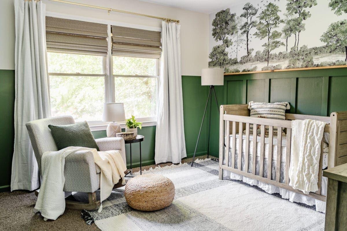 green nursery decor