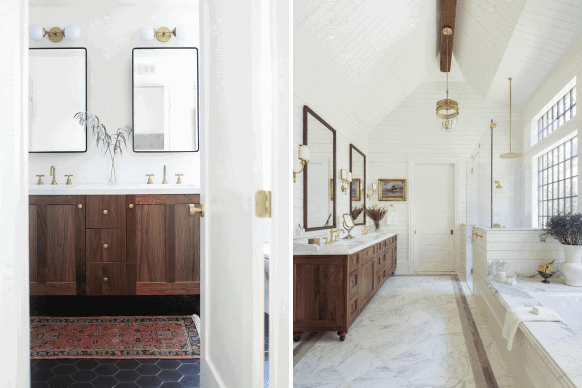 rug vs no rug in a bathroom