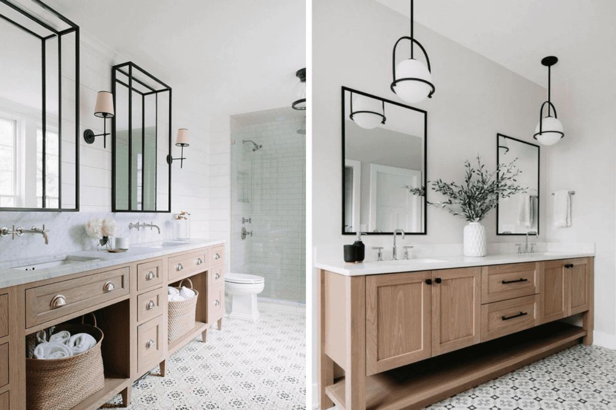 sconce lights vs pendant lights in a bathroom