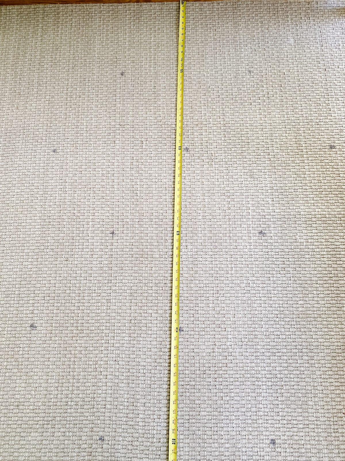 measuring for a floral block rug pattern