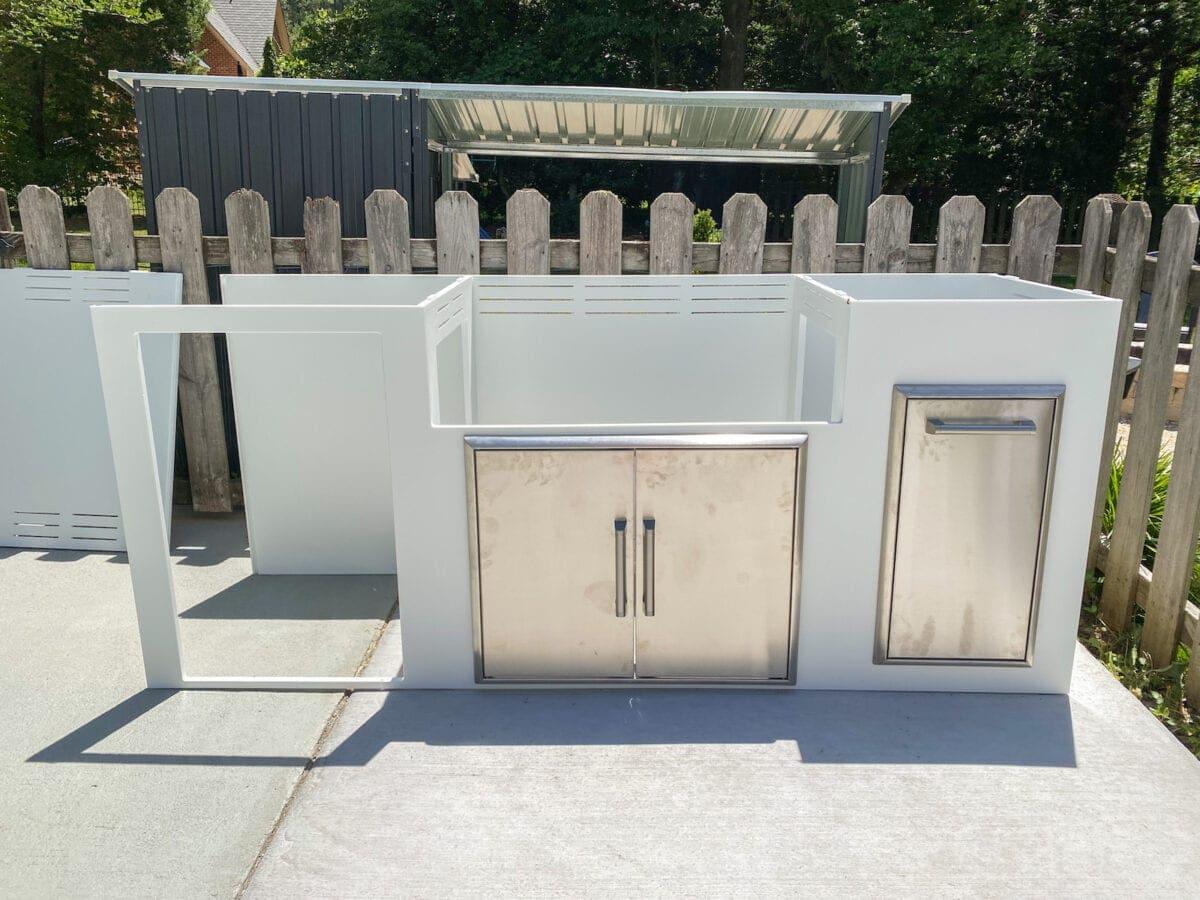 assembling an outdoor kitchen