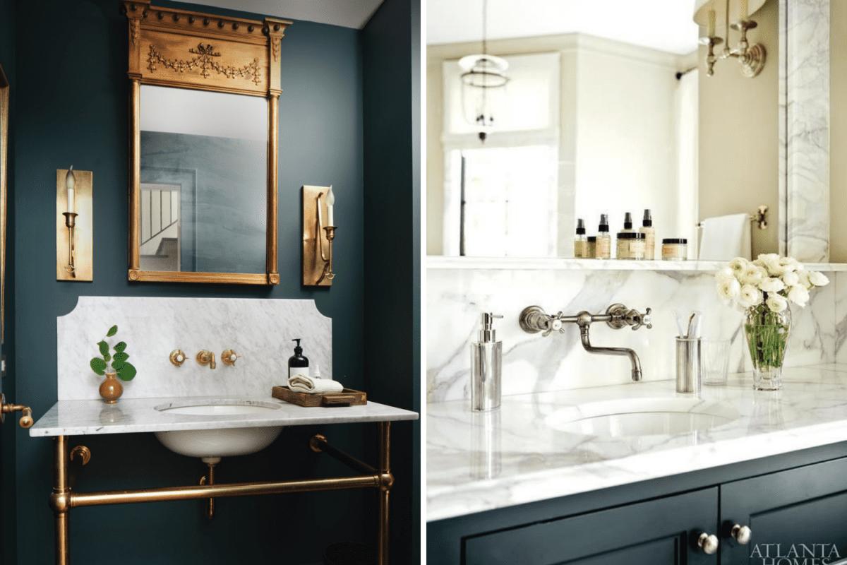scalloped backsplash vs sink ledge backsplash in a bathroom
